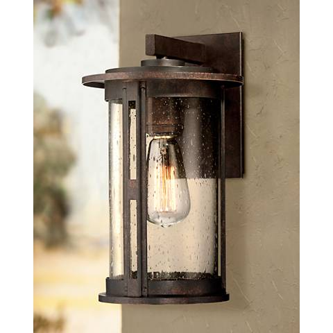 "Ridgeland 13 1/2"" High Bronze Outdoor Wall Light"