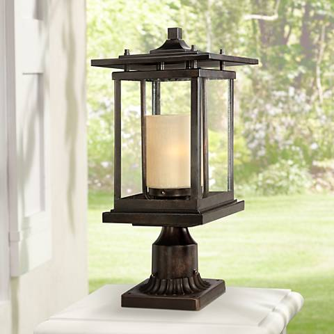 "Foxmoore Collection 17"" High Bronze Outdoor Post Light"