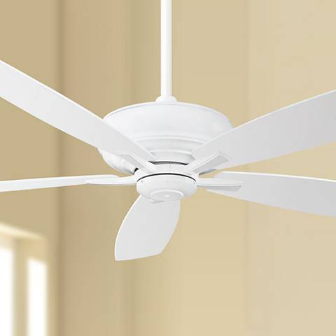 "60"" Minka Aire Kola XL ENERGY STAR® White Ceiling Fan"