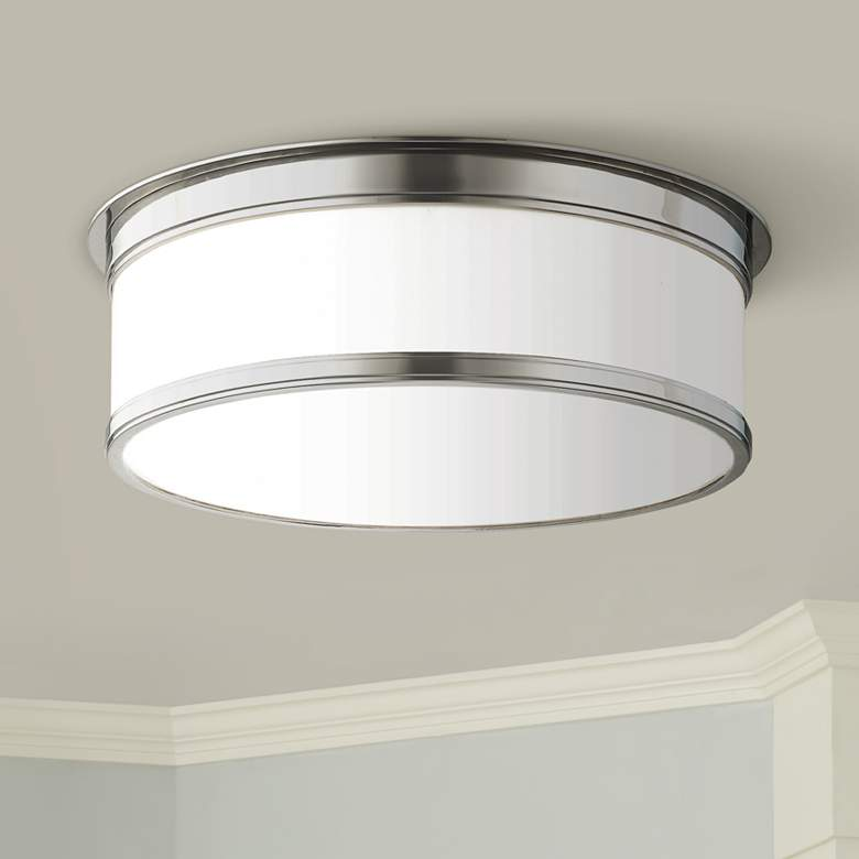 "Hudson Valley Geneva 15 1/4"" Wide Nickel Ceiling"