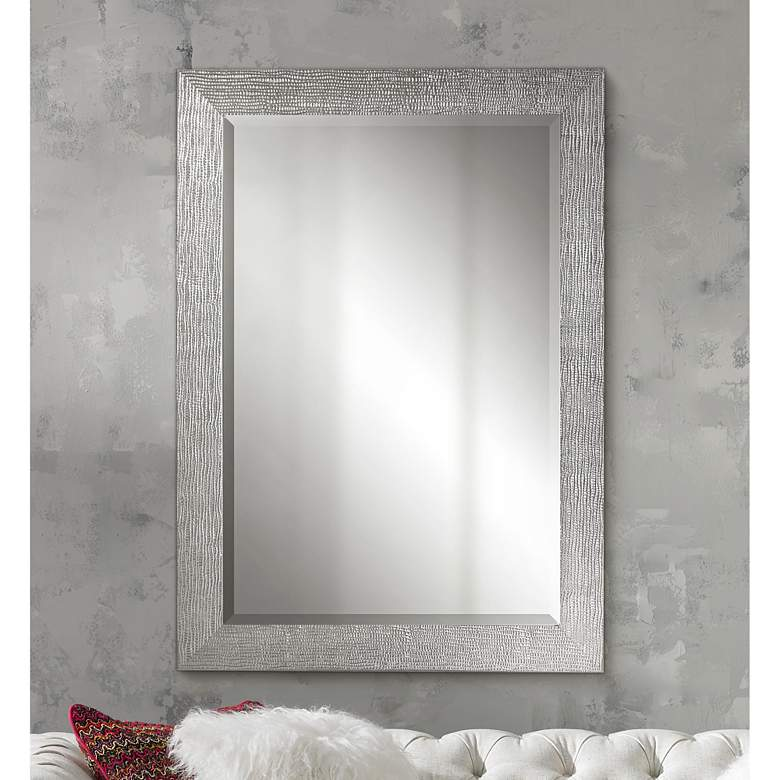 "Uttermost Tarek Silver 30"" x 42"" Decorative Wall Mirror"