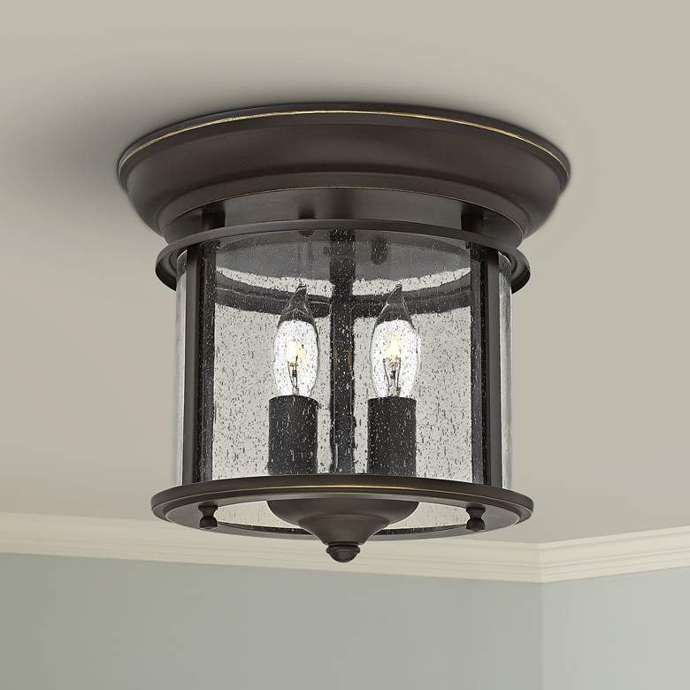 "Hinkley Gentry 9 1/2"" Wide Olde Bronze Ceiling Light"
