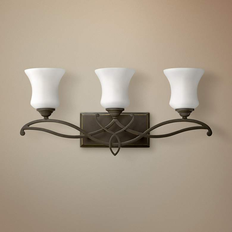 "Hinkley Brooke 24"" Wide Olde Bronze 3-Light Bath"