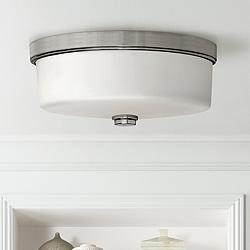 "Hinkley Foyer 17"" Wide Brushed Nickel Ceiling Light"