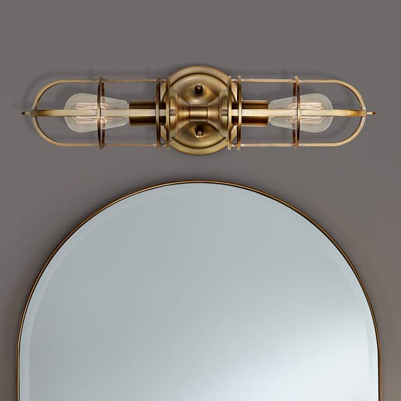 "Feiss Urban Renewal 20 1/4""H Dark Antique Brass"