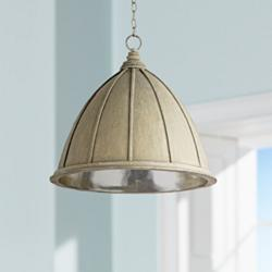 "Currey and Company Fenchurch 23"" Wide Oyster Pendant"
