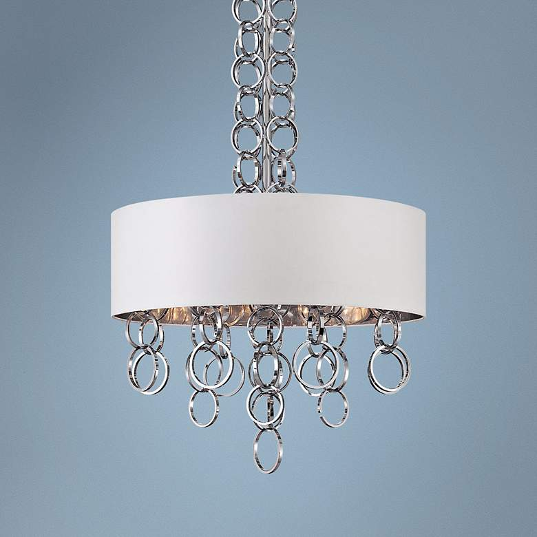 "Eurofase Novello 24"" Wide White Chrome Pendant"