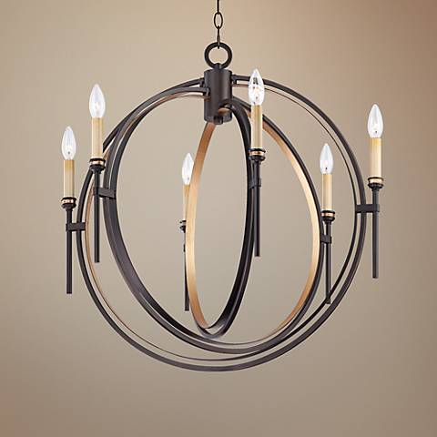 "Eurofase Infinity 26 3/4"" Wide Bronze and Gold Chandelier"