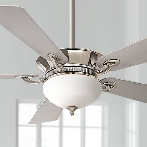 52 minka aire delano polished nickel ceiling fan