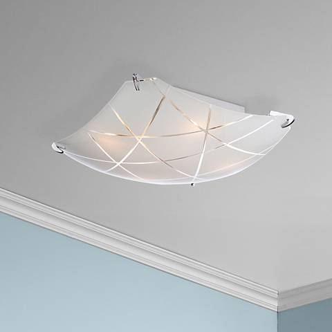 "Lattice 16 1/2"" Wide Contemporary Chrome Ceiling Light"