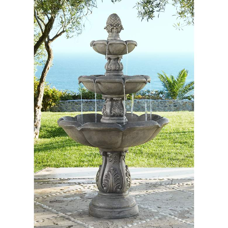 "Browning Three-Tier 65"" High Traditional Fountain"