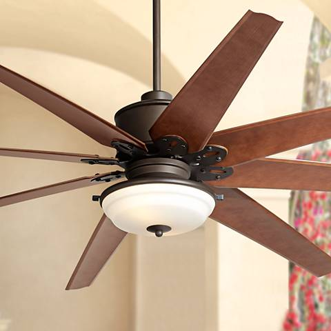 "72"" Predator Frost Light English Bronze Outdoor Ceiling Fan"