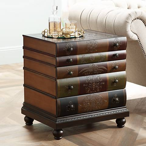 Crestview Collection Library 3-Drawer End Table