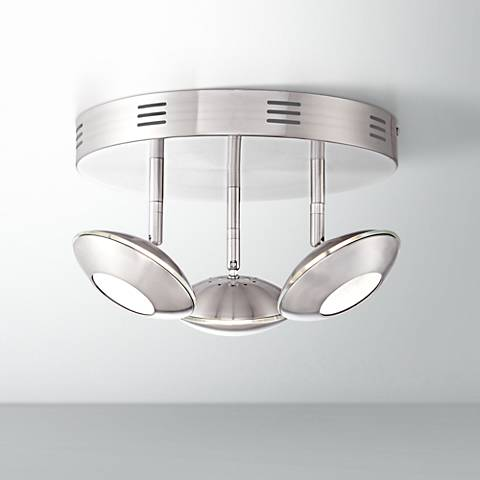 Thurston Satin Nickel 3-Light LED Ceiling Light