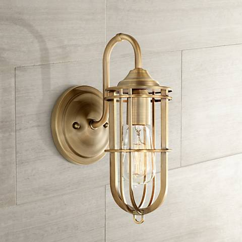 "Feiss Urban Renewal 12 1/4"" High Dark Antique Brass Sconce"