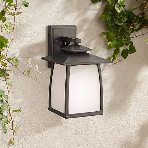 "Feiss Wright House 12 1/2"" High Bronze Outdoor Wall Light"