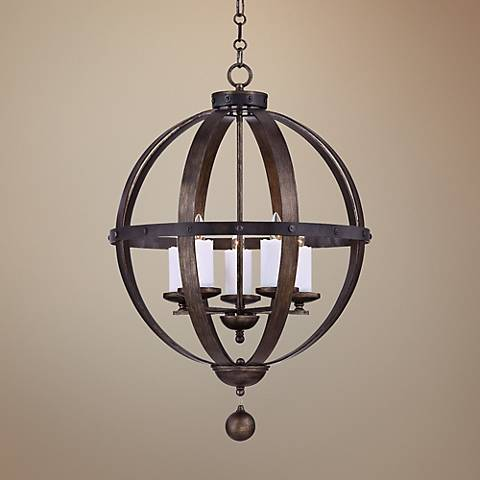 "Savoy House Alsace 24"" Wide Reclaimed Wood Pendant Light"