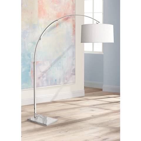 Robert Abbey Archer Polished Nickel Arc Floor Lamp