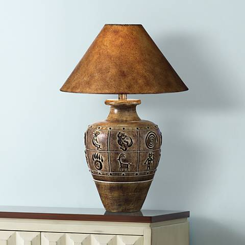 Desert Sand Brown Handcrafted Southwest Table Lamp
