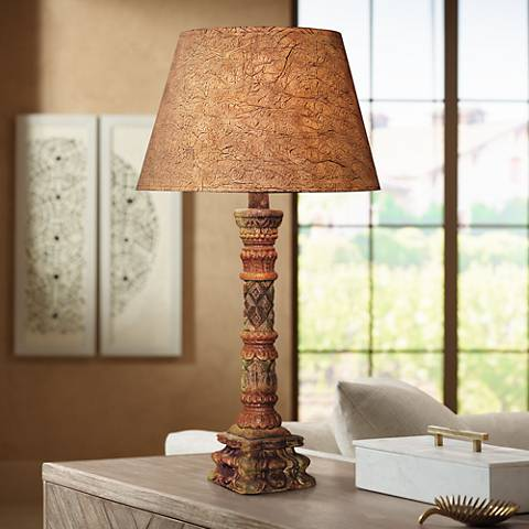 Rainbow Desert Southwest Candlestick Table Lamp