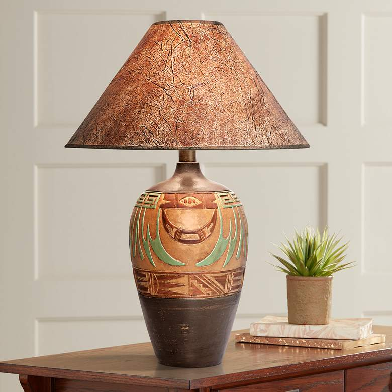 Wild Marigold Handcrafted Light Southwest Table Lamp