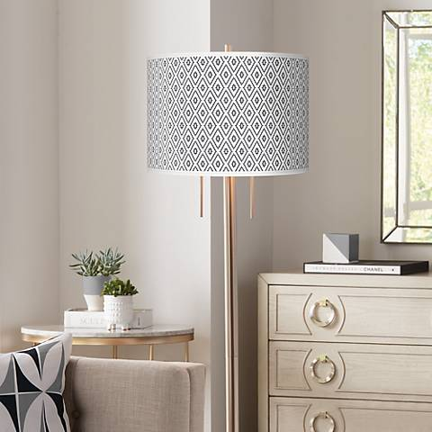 Diamonds Giclee Brushed Nickel Garth Floor Lamp