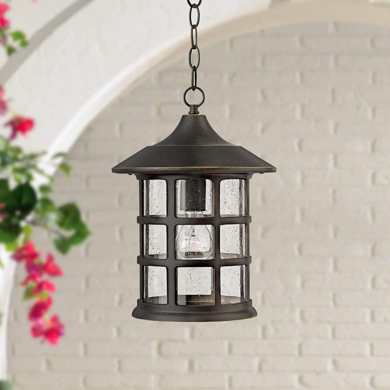 "Hinkley Freeport 14"" High Bronze Outdoor Hanging Light"