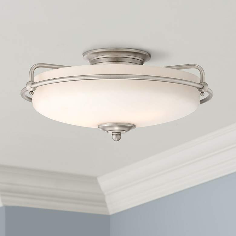 "Quoizel Griffin 17"" Wide Large Nickel Floating Ceiling"