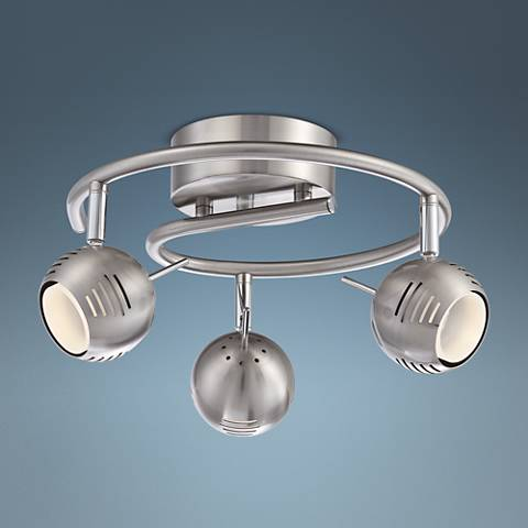 Pro Track Boyce 3-Light Satin Nickel LED Track Fixture