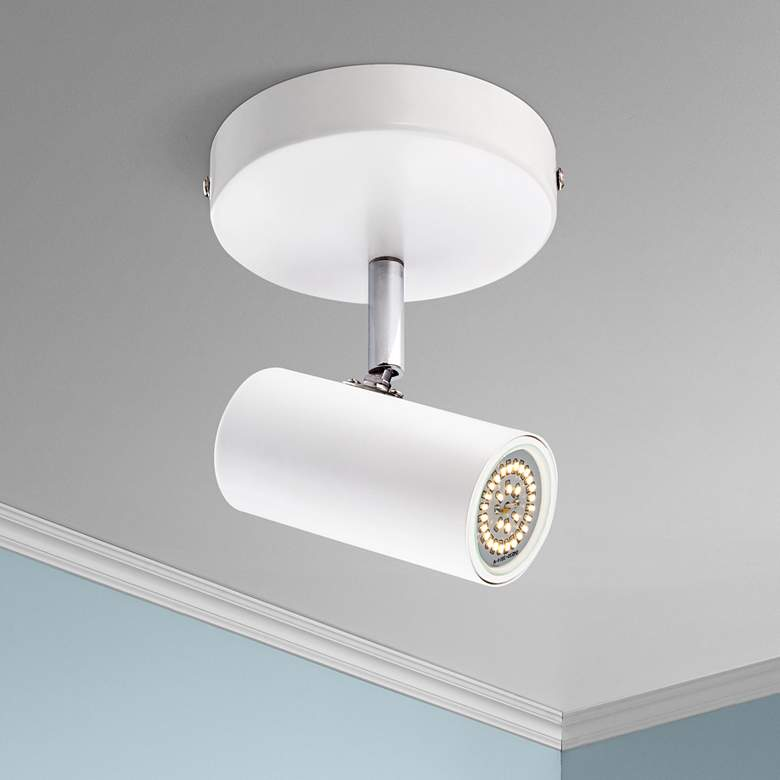 "Galena 8"" Wide White Finish LED Track Fixture"