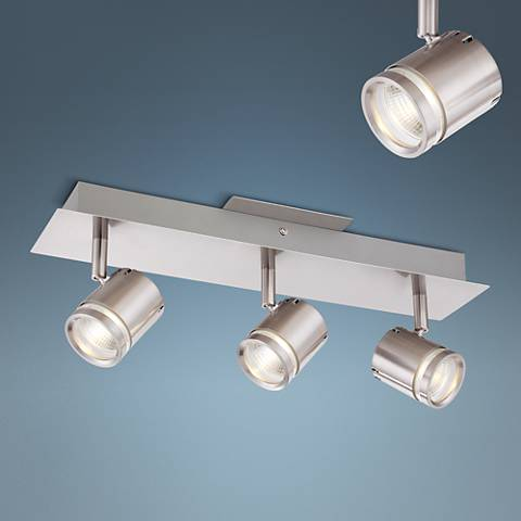 "Pro Track Daltry 16 1/2"" Wide Satin Nickel LED Track Kit"