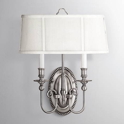 "Hinkley Cambridge 18"" High Pewter 2-Light Wall Sconce"