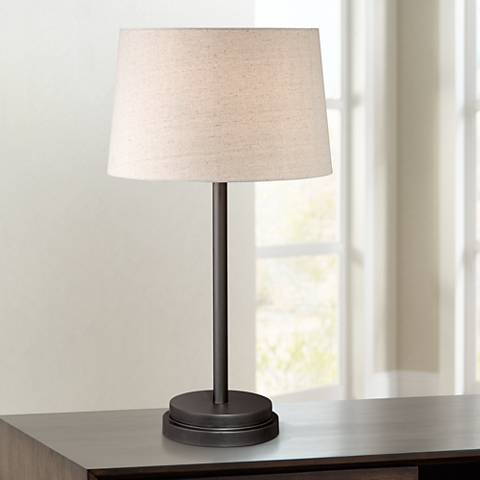 "Elroy Modern 27"" High Dark Bronze Table Lamp"