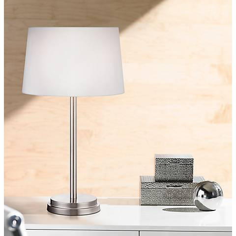 "Elroy Modern 27"" High Brushed Steel Table Lamp"