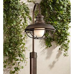 "Franklin Park 23 1/2"" High Bronze Cage Outdoor Post Light"