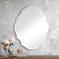"Emma Frameless 22 1/4"" x 28"" Decorative Wall Mirror"