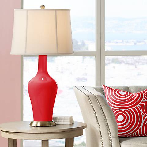 Bright Red Anya Table Lamp