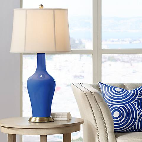 Dazzling Blue Anya Table Lamp