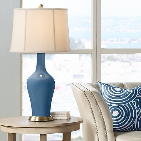 Regatta Blue Anya Table Lamp