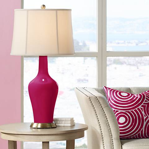 French Burgundy Anya Table Lamp