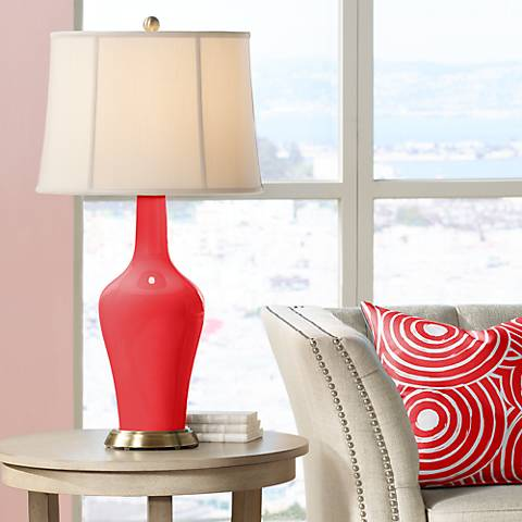 Poppy Red Anya Table Lamp