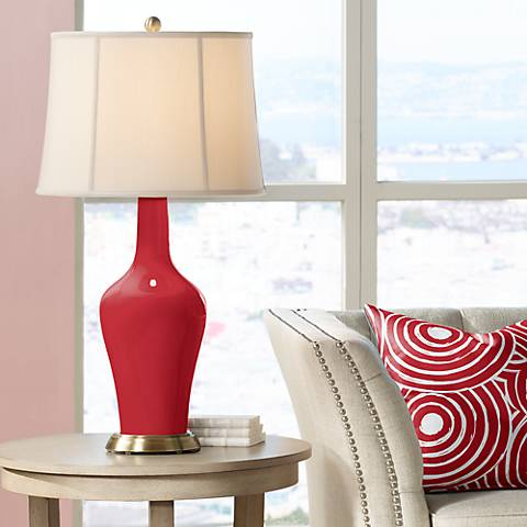 Ribbon Red Anya Table Lamp