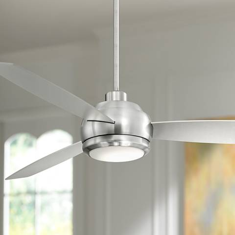 60 casa aleso brushed nickel led ceiling fan