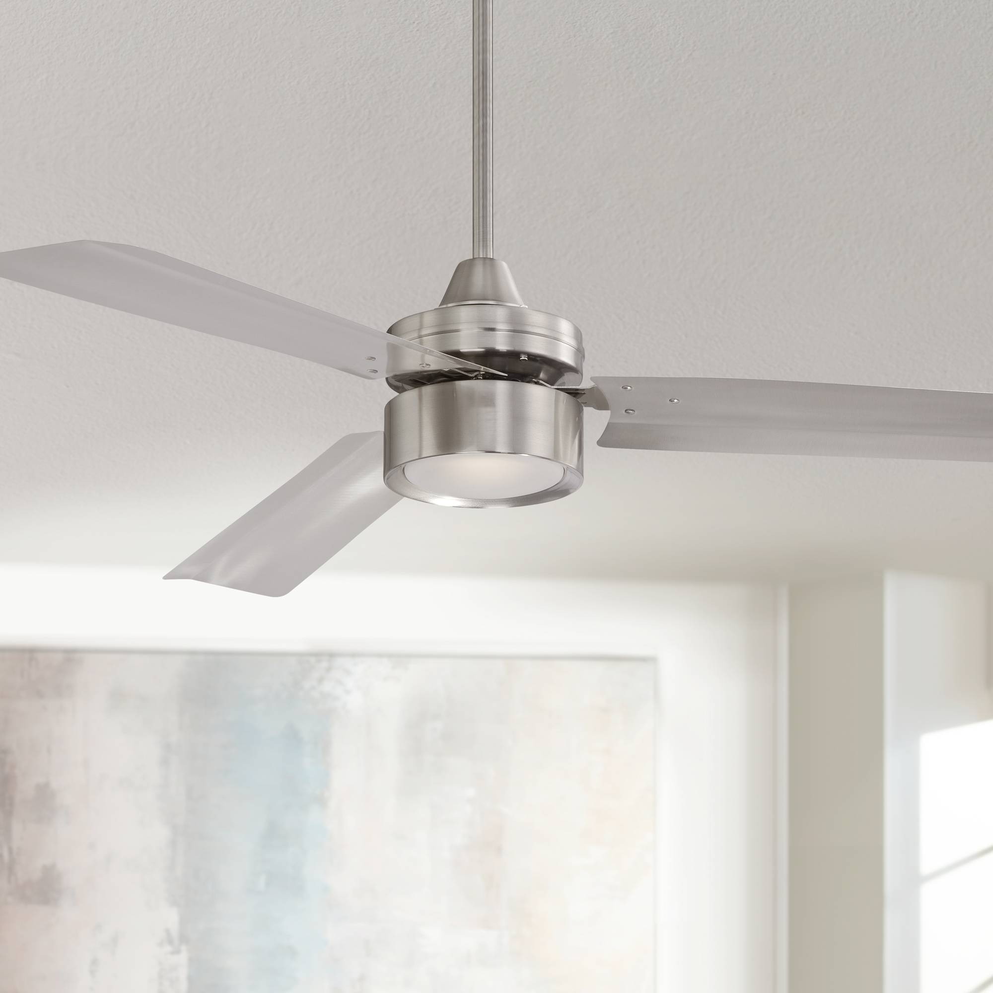 52 casa arcus brushed nickel led ceiling fan