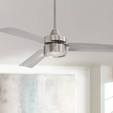 52 casa arcus brushed nickel led ceiling fan 3x288 lamps plus