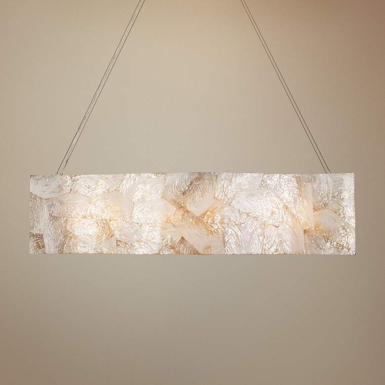 "Varaluz Big 36"" Wide Kabebe Shell Linear Pendant"