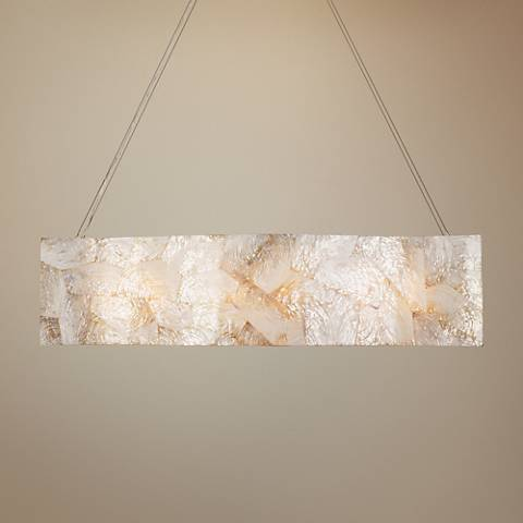 "Varaluz Big 36"" Wide Kabebe Shell Linear Pendant Light"