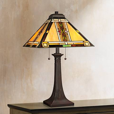 Quoizel Art Glass Table Lamp