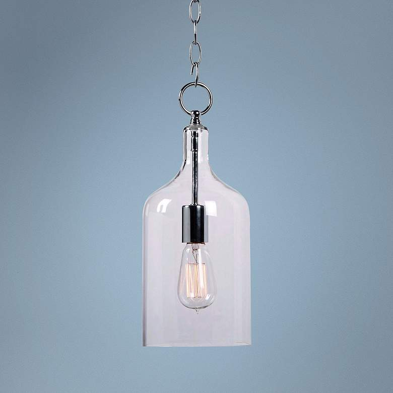 "Capri 6"" Wide Clear Glass Mini Pendant"