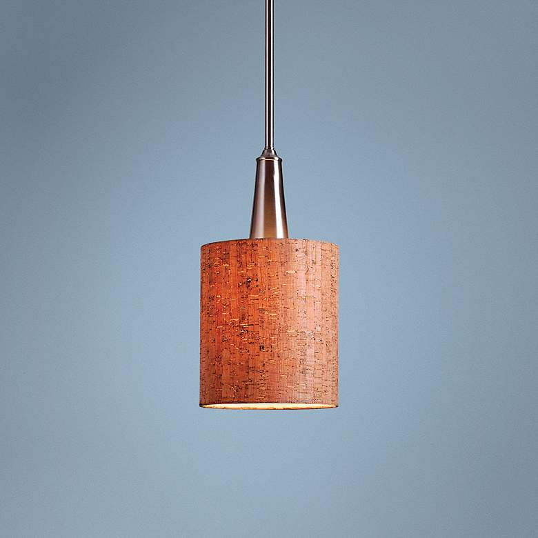 "Bulletin 8"" Wide Natural Cork Mini Pendant"